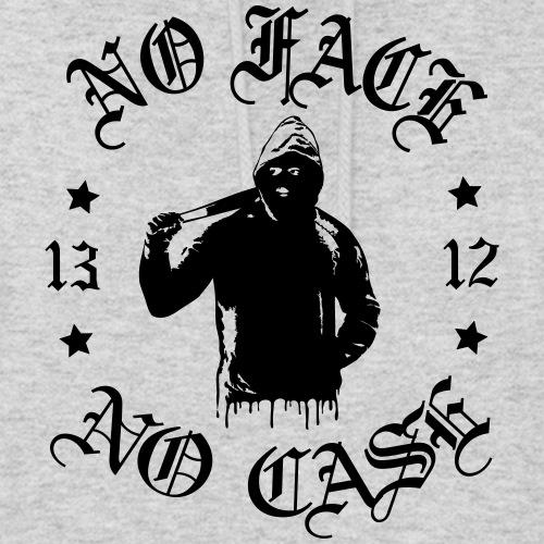 No Face, No Case - iso printti - Naisten huppari