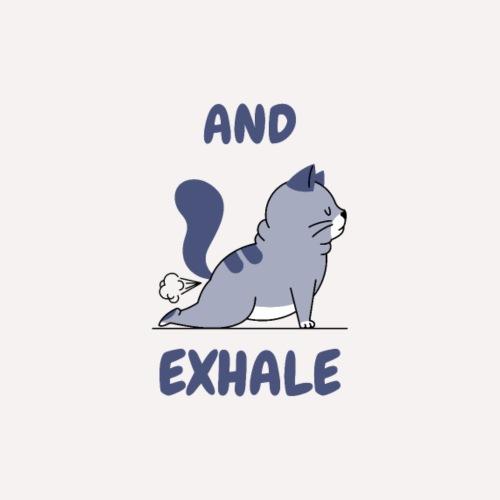 Yoga Exhale position - Women's Hoodie