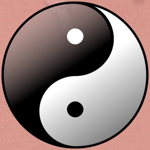 Yin Yang Symbol balance Print Sign - Women's Hoodie