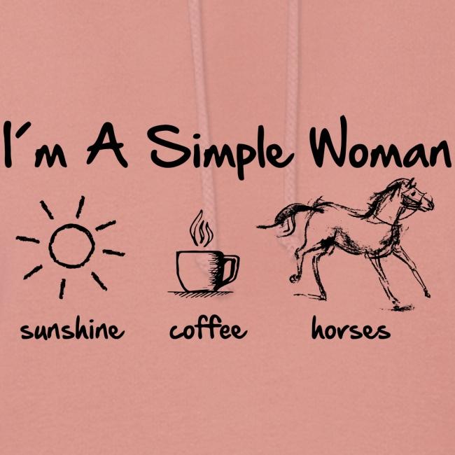 Vorschau: simple woman horse - Frauen Hoodie