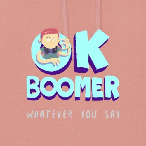 OK Boomer Climate Change New World Order Print - Women's Hoodie