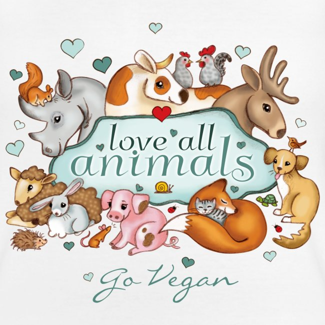 Love all animals door Maria Tiqwah