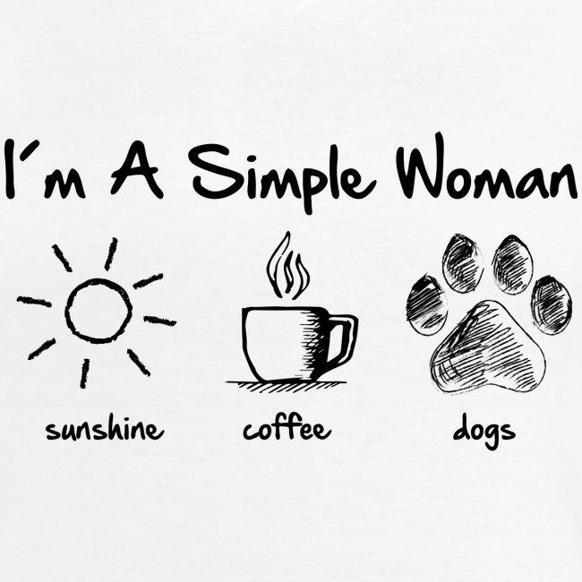 simple woman dog