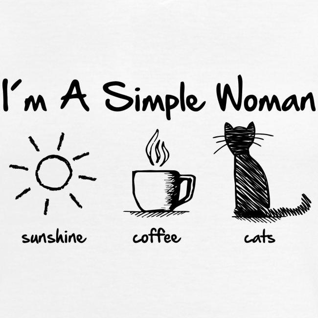 Vorschau: simple woman cats - Klassisches Frauen-T-Shirt mit V-Ausschnitt