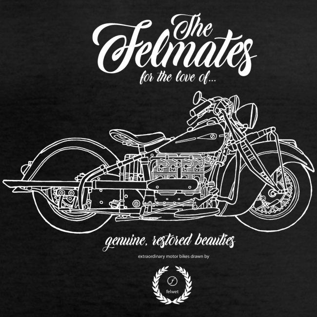 the felmates motorbikes outlines white