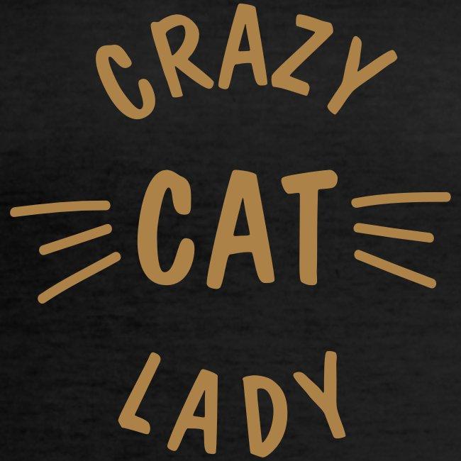 Vorschau: Crazy Cat Lady meow - Klassisches Frauen-T-Shirt mit V-Ausschnitt
