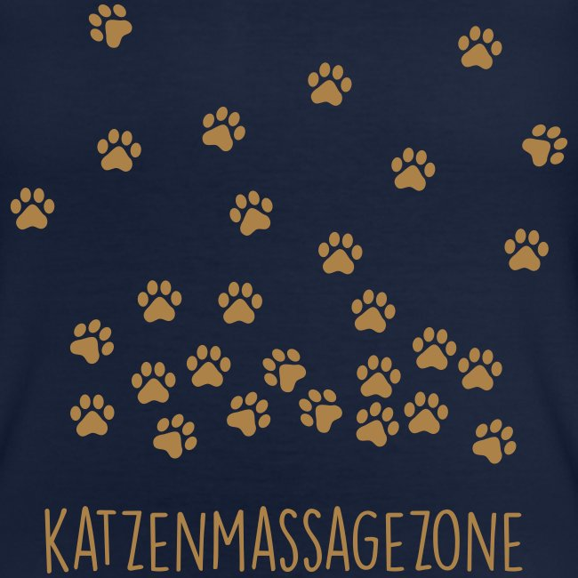 Vorschau: Katzen Massage Zone - Klassisches Frauen-T-Shirt mit V-Ausschnitt