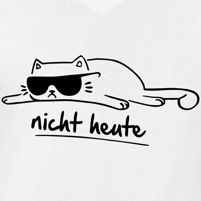 Vorschau: nicht heute - Klassisches Männer-T-Shirt mit V-Ausschnitt