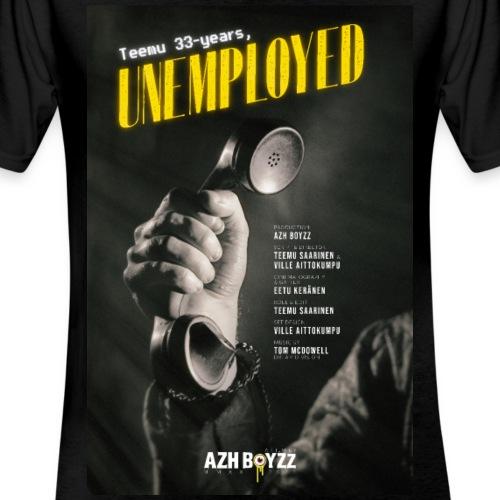 Teemu 33-years, unemployed (1 print) - Klassinen miesten t-paita v-pääntiellä