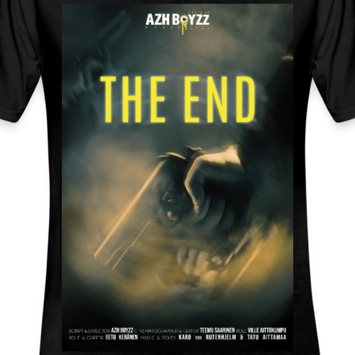 The End poster (1 print) - Klassinen miesten t-paita v-pääntiellä