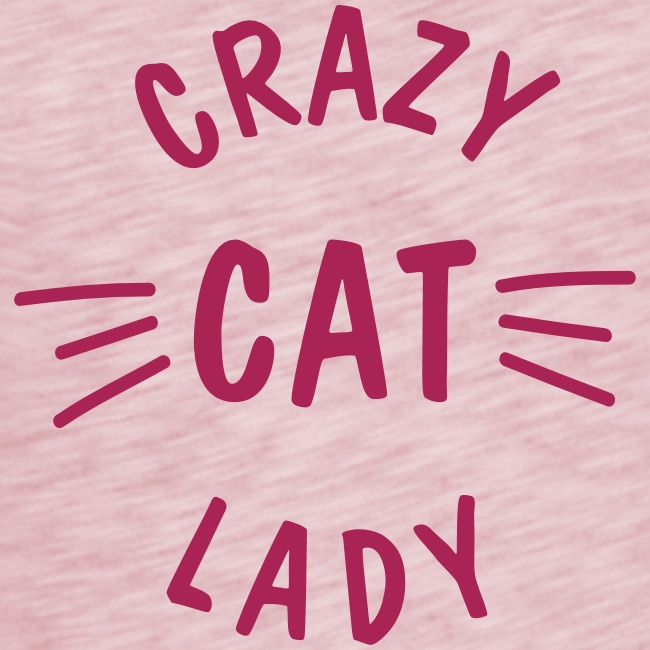 Crazy Cat Lady meow - Frauen T-Shirt mit Flatterärmeln