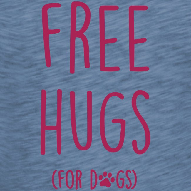 free hugs for dogs - Frauen T-Shirt mit Flatterärmeln