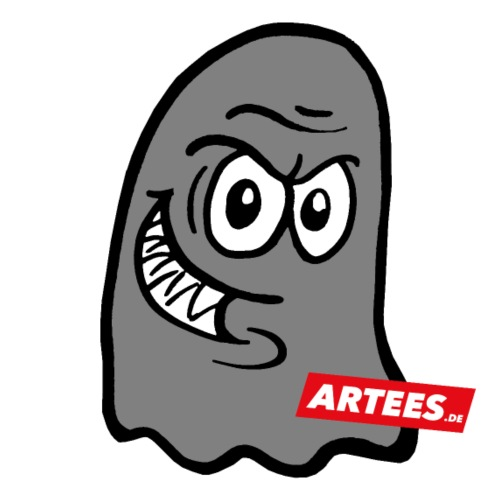 Artees GHOST Grey SMALL LOGO - Teenager Premium Bio T-Shirt