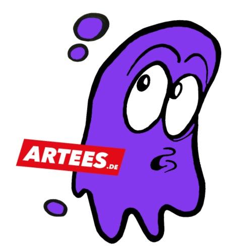 Artees GHOST Purple SMALL LOGO - Teenager Premium Bio T-Shirt