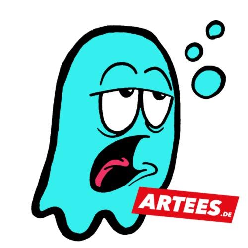 Artees GHOST Blue SMALL LOGO - Teenager Premium Bio T-Shirt