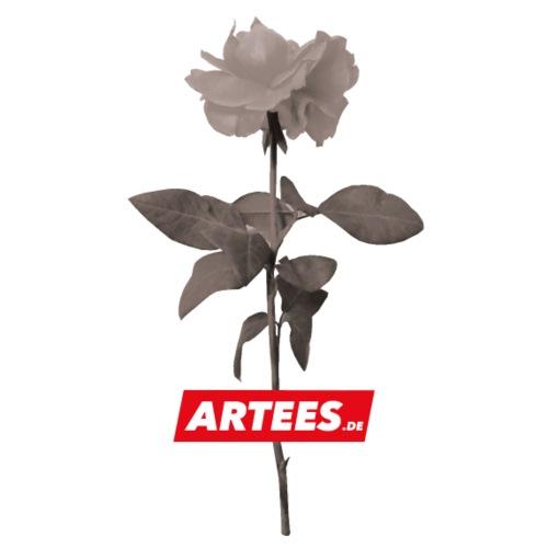 Be ARTEES.DE Rose SMALL LOGO - Teenager Premium Bio T-Shirt