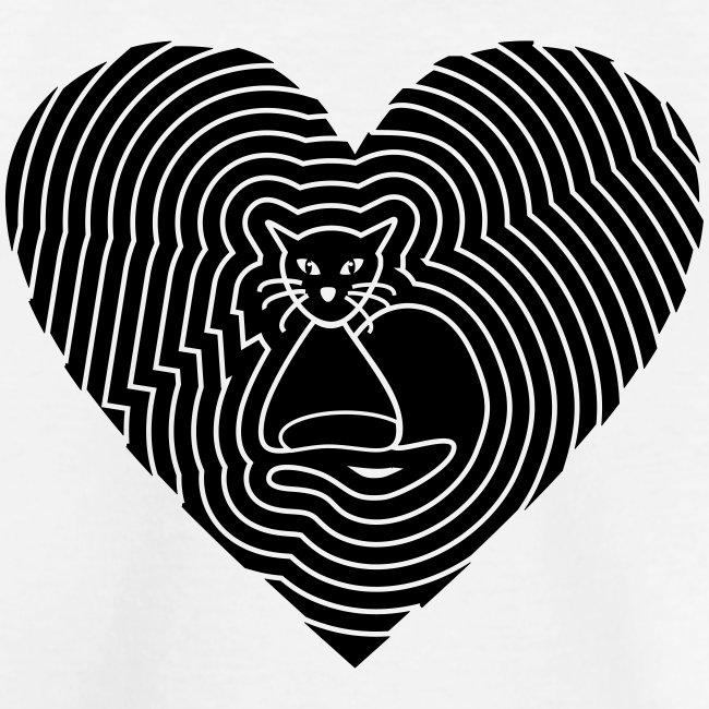 Katzen Spirale Herz
