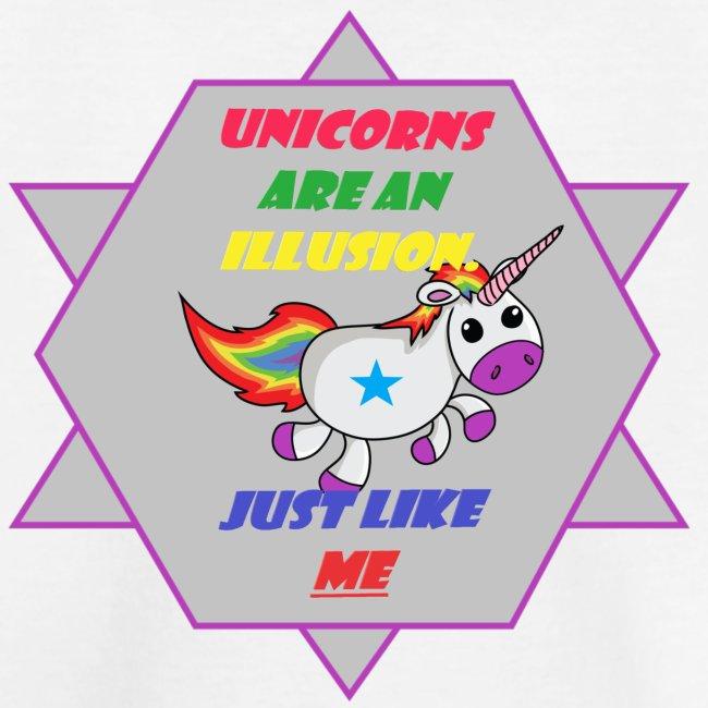 Unicorn with joke