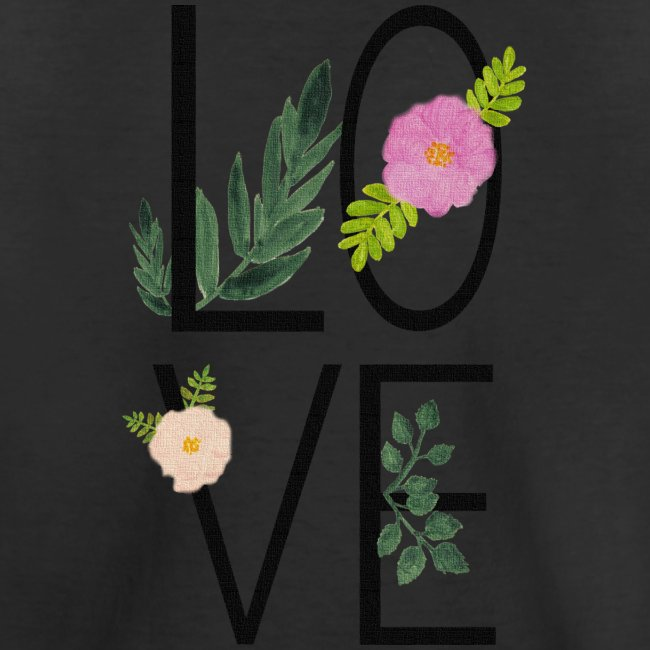 Love Sign with flowers