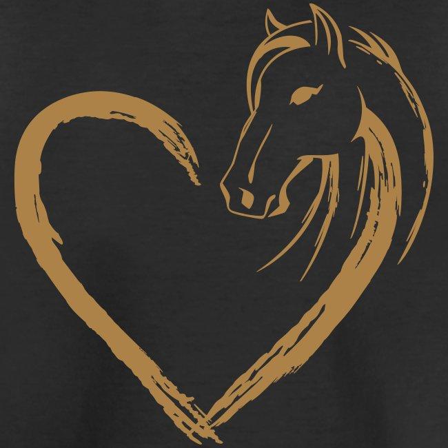 Vorschau: Pferde Herz - Teenager Premium Bio T-Shirt