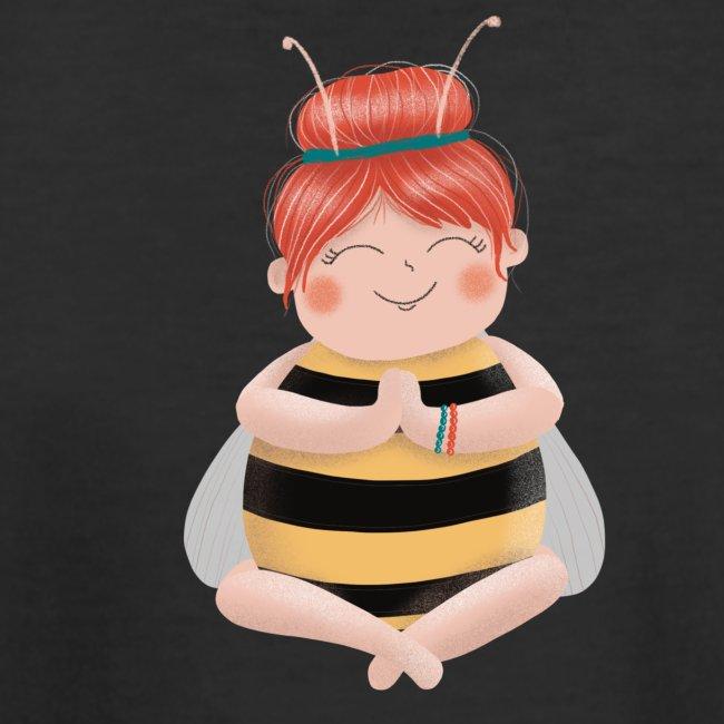Biene am Meditieren