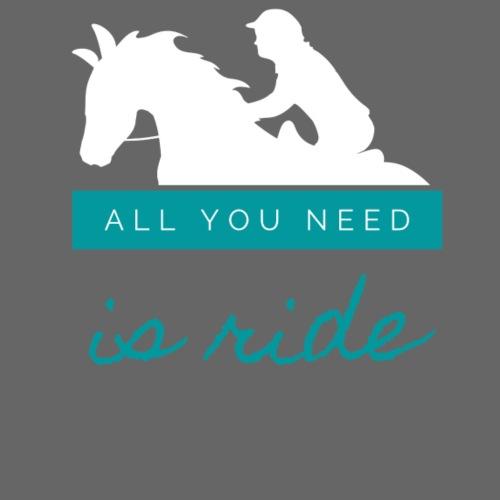 Logo All you need is Ride Bleu Boy
