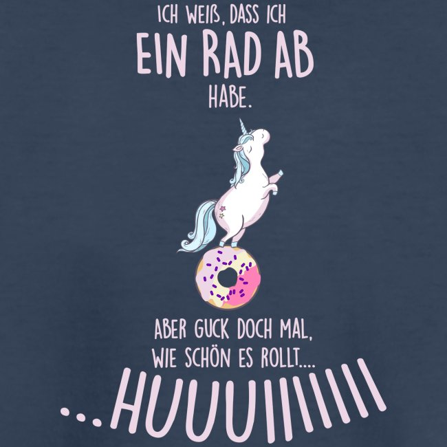 Vorschau: rad ab_einhorn - Teenager Premium Bio T-Shirt