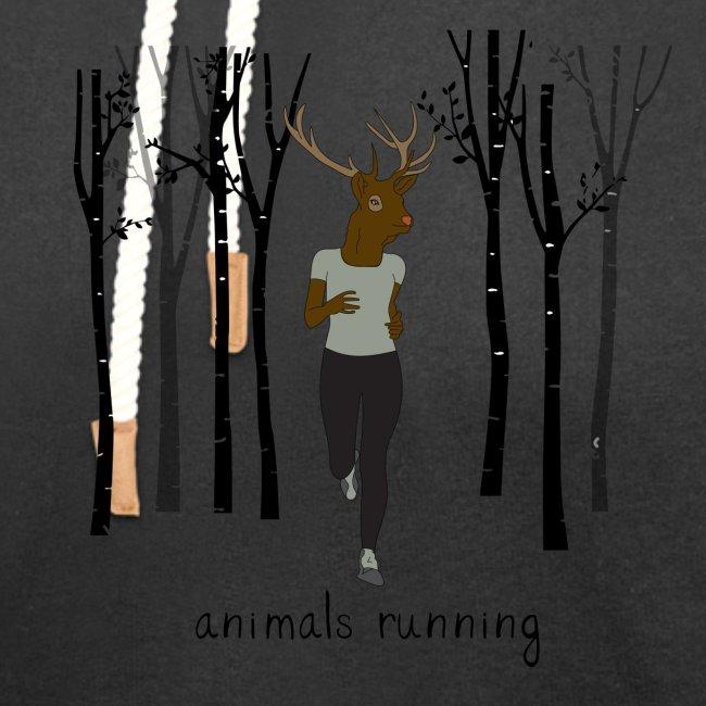 Cerf running