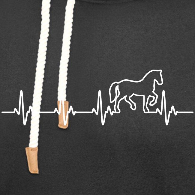 Vorschau: Horse Heartbeat - Unisex Schalkragen Hoodie