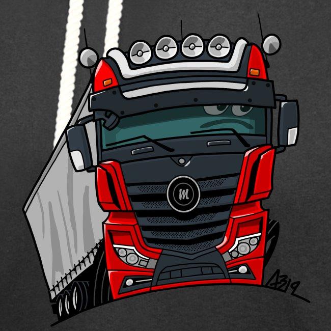 0807 M truck zwart rood