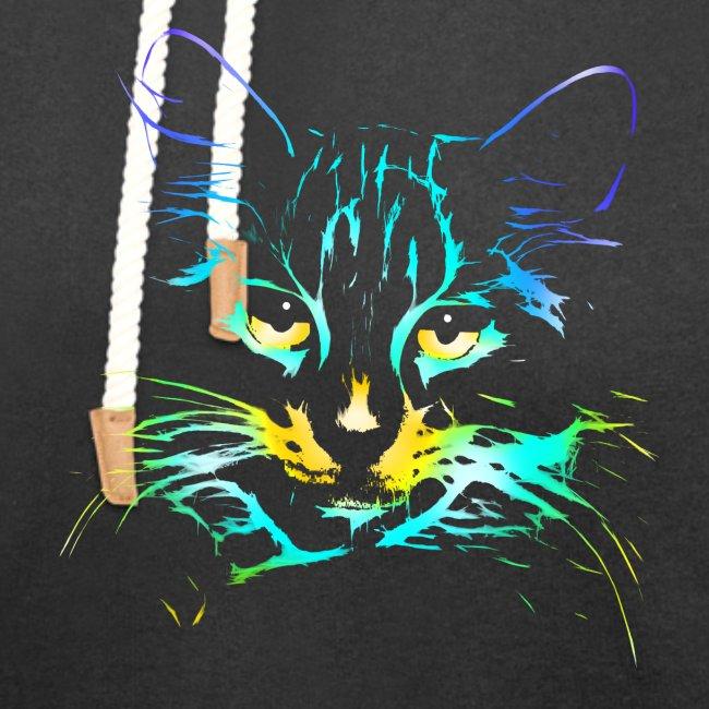 Vorschau: color kitty - Unisex Schalkragen Hoodie