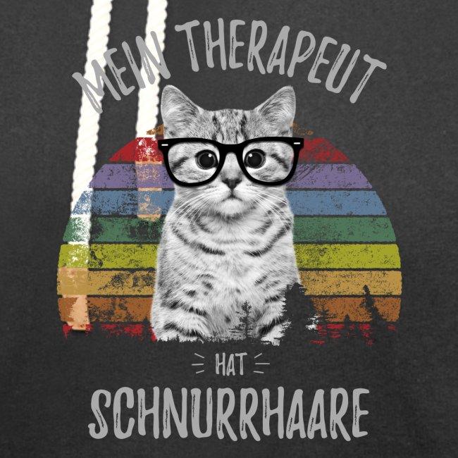 Vorschau: Therapeut Katze - Unisex Schalkragen Hoodie