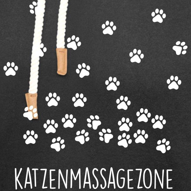 Vorschau: Katzen Massage Zone - Unisex Schalkragen Hoodie