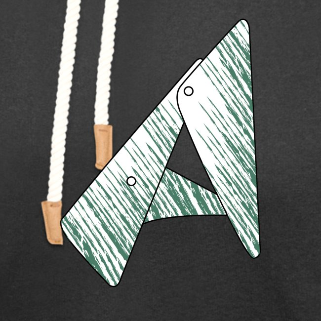 lettera geometrica A verde