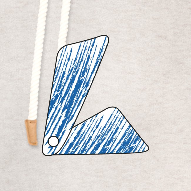 lettera L blu