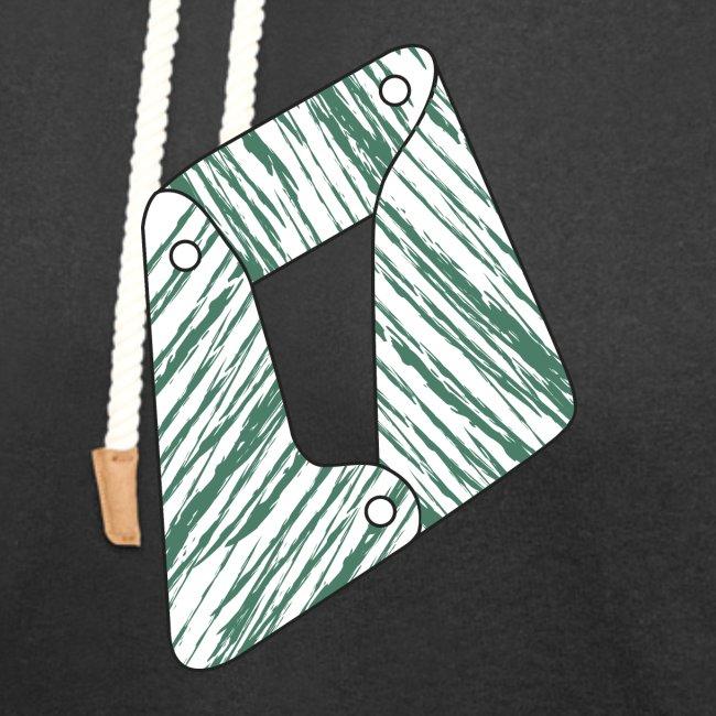 lettera O verde