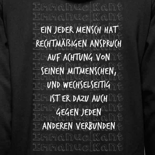 Achtung Immanuel Kant Zitat Spruch Geschenk Idee