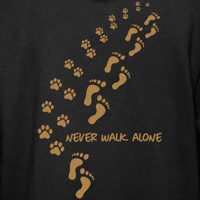 never walk alone dog - Unisex Schalkragen Hoodie