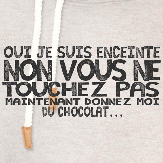 T-Shirt-Femme-Enceinte-Chocolat