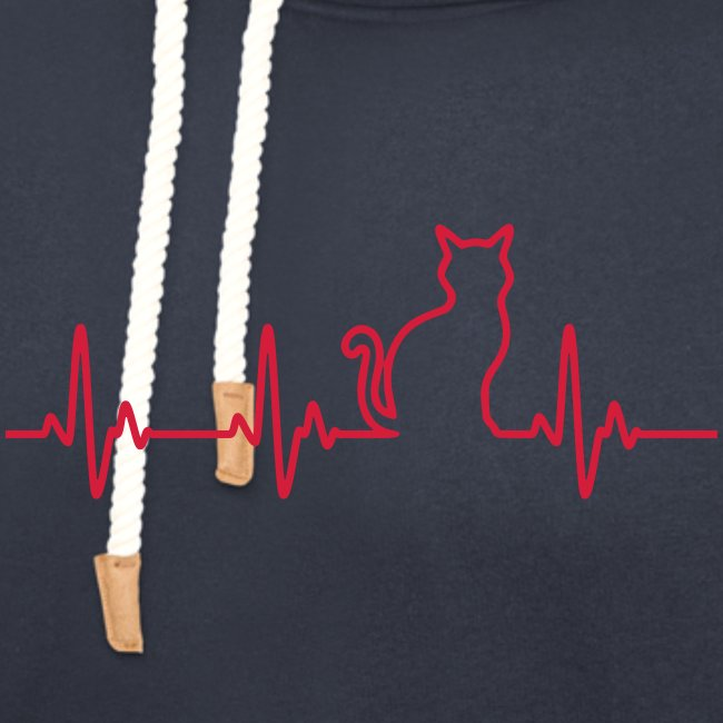 Vorschau: Ein Herz für Katzen - Unisex Schalkragen Hoodie