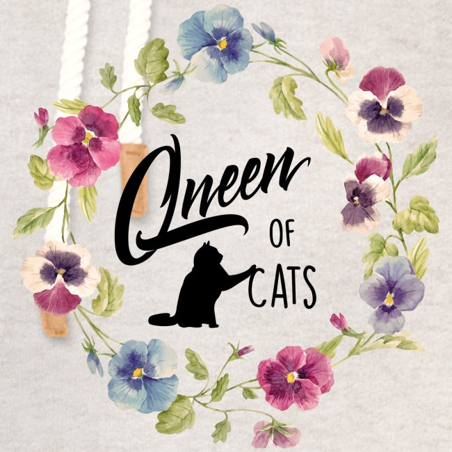 Vorschau: queen of cats - Unisex Schalkragen Hoodie