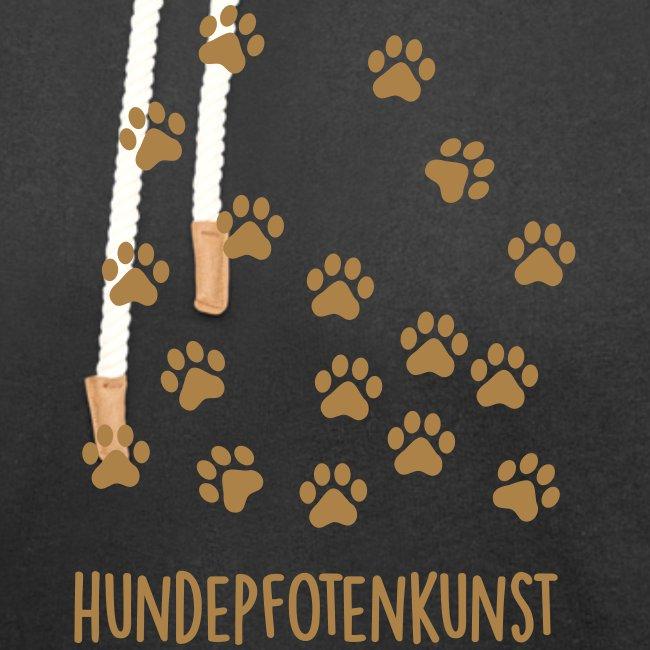 Vorschau: Hundepfotenkunst - Unisex Schalkragen Hoodie