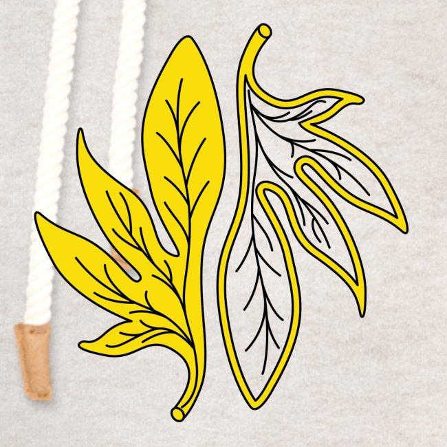 foglia gialla palmata