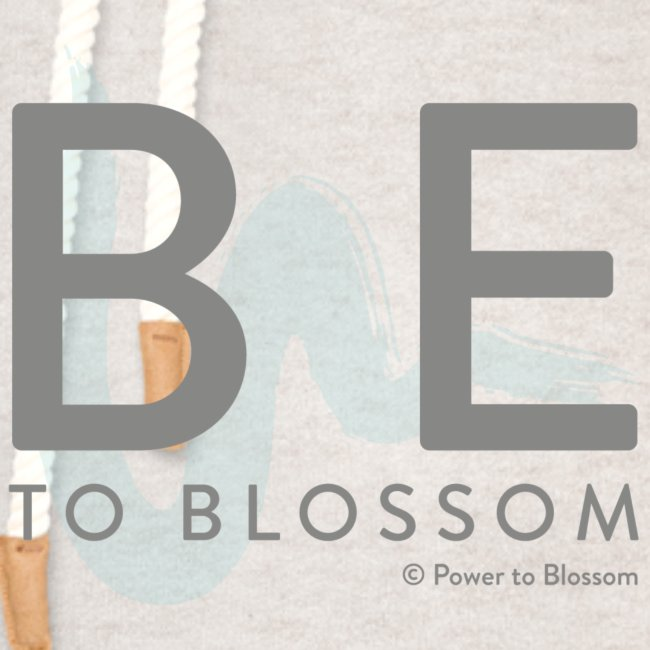 Be to blossom with swoosh (gray) -Power to Blossom