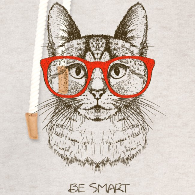 Vorschau: Cat Hipster - Unisex Schalkragen Hoodie