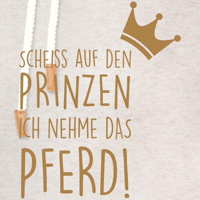 Vorschau: Prinz Pferd - Unisex Schalkragen Hoodie