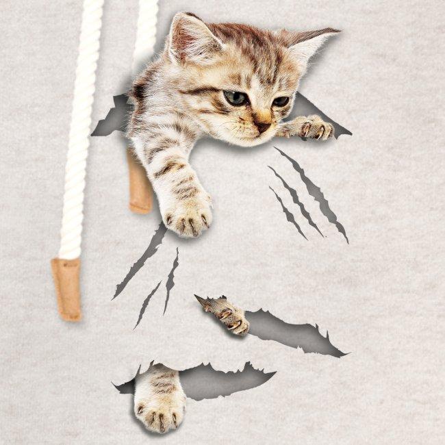 Vorschau: cat tear - Unisex Schalkragen Hoodie