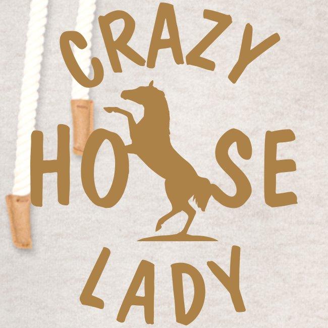 Vorschau: crazy horse lady - Unisex Schalkragen Hoodie