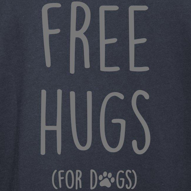 Vorschau: free hugs for dogs - Unisex Schalkragen Hoodie