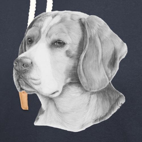 beagle M - Hoodie med sjalskrave